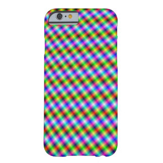 Neon Crosshatch small Barely There iPhone 6 Case