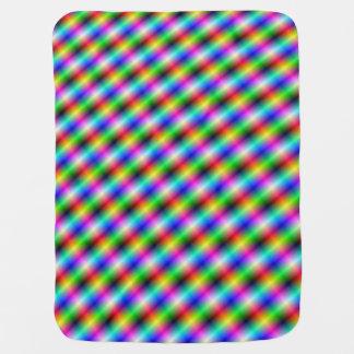 Neon Crosshatch Stroller Blankets