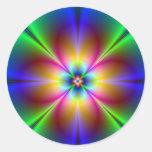 Neon Daisy Round Sticker