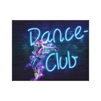 Neon Dance Club Canvas Art Canvas Prints