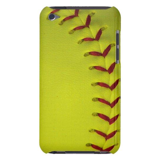 Neon Dayglo Yellow Softball / Baseball Case-Mate iPod Touch Case