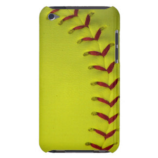 Neon Dayglo Yellow Softball / Baseball iPod Touch Case