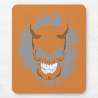 Neon Demon Skull Mouse Pad