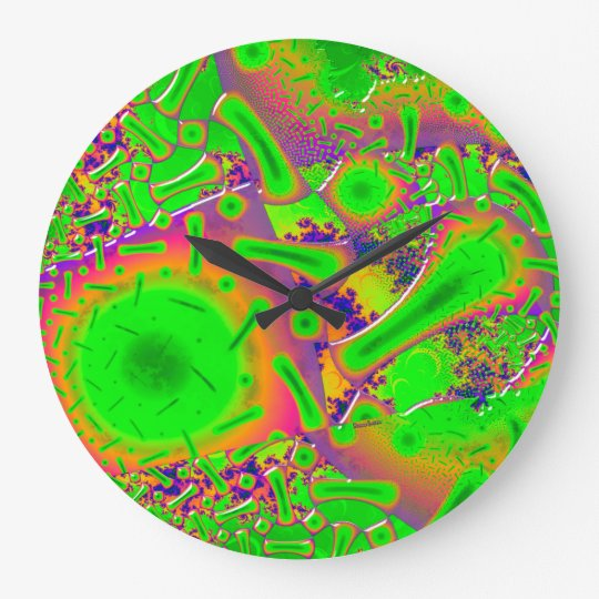 Neon Dichroic Psychedelic Large Clock