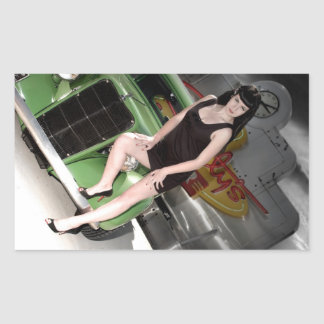 Neon Diner Hot Rod Betty Pin Up Girl Sticker 1
