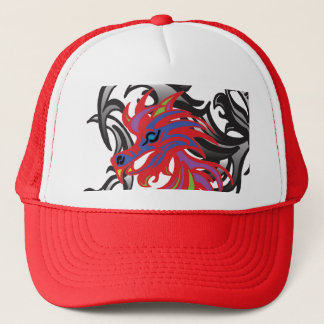 Neon Dragon Trucker Hat