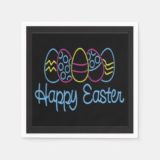 Neon Easter Easter Paper Napkins