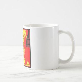 Neon Eating Man Coffee Mugs