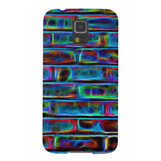 Neon Effect Brick Wall Background Galaxy S5 Cover