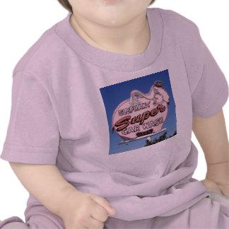Neon Elephant Car Wash Sign Tee Shirt