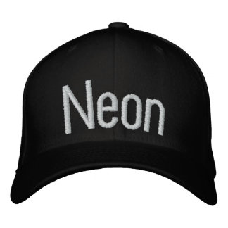 Neon Embroidered Hats