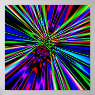Neon Explosion Print