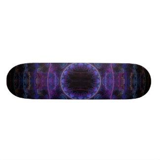 Neon Fame Fractal Art Custom Skate Board
