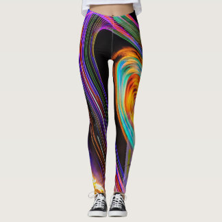 Neon Ferris Wheel Amusement Park Leggings