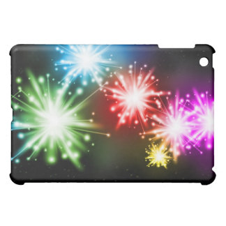 Neon Fireworks Laser Lights Black  Cover For The iPad Mini