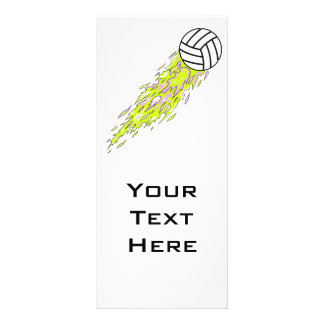 neon flames volleyball rack card template