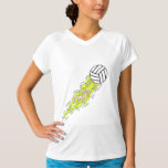 neon flames volleyball T-Shirt