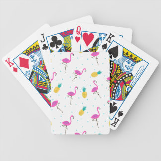 Neon Flamingos 2 Bicycle Playing Cards