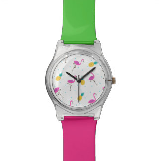 Neon Flamingos 2 Wrist Watches