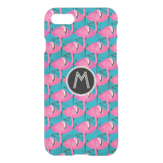 Neon Flamingos | Add Your Initial iPhone 8/7 Case
