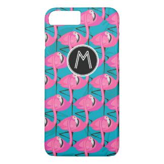 Neon Flamingos | Add Your Initial iPhone 8 Plus/7 Plus Case