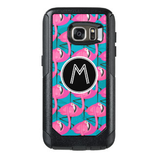Neon Flamingos | Add Your Initial OtterBox Samsung Galaxy S7 Case