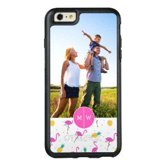 Neon Flamingos | Add Your Photo & Monogram OtterBox iPhone 6/6s Plus Case