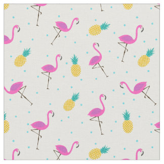 Neon Flamingos Fabric