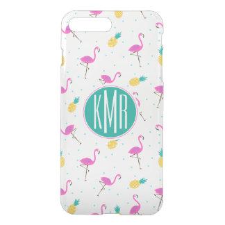 Neon Flamingos | Monogram iPhone 8 Plus/7 Plus Case