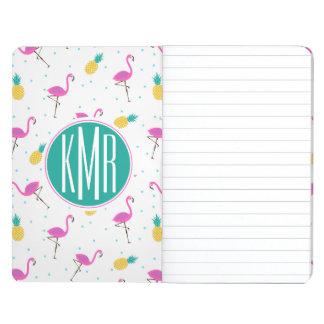 Neon Flamingos   Monogram Journals