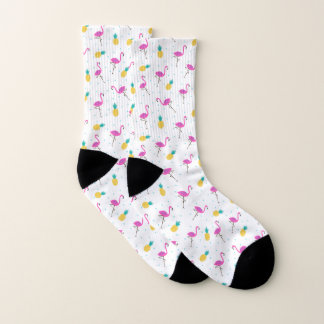 Neon Flamingos Socks
