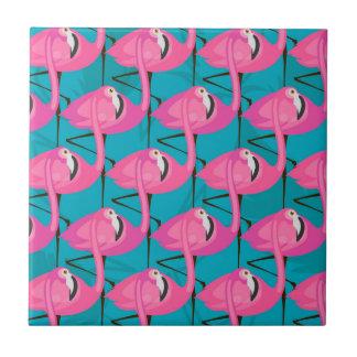 Neon Flamingos Tile