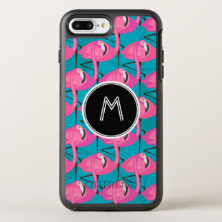 Neon Flamingos Two | Add Your Initial OtterBox Symmetry iPhone 8 Plus/7 Plus Case