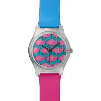Neon Flamingos Watch