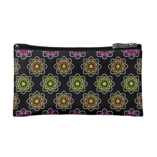 Neon Floral Cosmetic Case