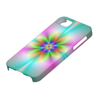 Neon Flower Fractal iPhone 5 Barely There iPhone 5 Case