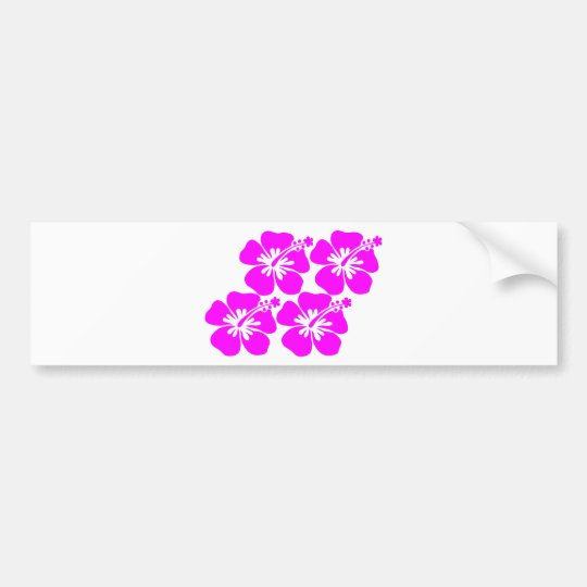 neon flower hibiscus bumper sticker