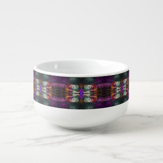 neon flower soup mug