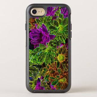 Neon Flowers OtterBox Symmetry iPhone 8/7 Case