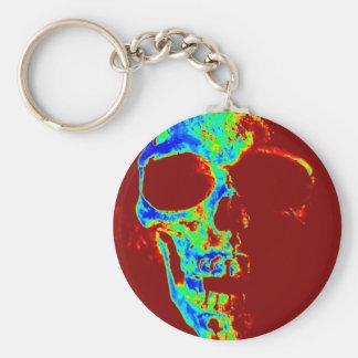 Neon Freddy Basic Round Button Key Ring