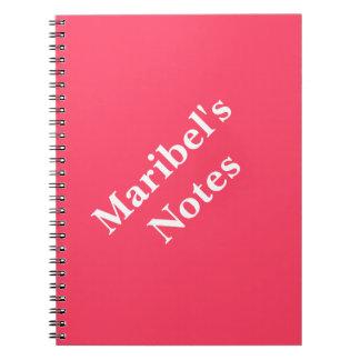 Neon Fuchsia Name College Notebook