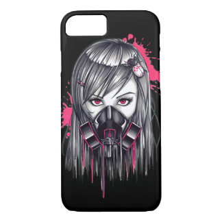 Neon Gas Mask Girl iPhone 8/7 Case