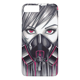 Neon Gas Mask Girl iPhone 8 Plus/7 Plus Case