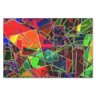 Neon Geometric Fractal Tissue Paper