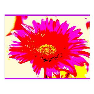 Neon Gerber Postcard