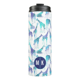 Neon Giraffes | Monogram Thermal Tumbler