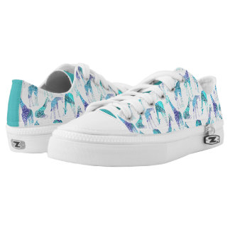 Neon Giraffes Printed Shoes