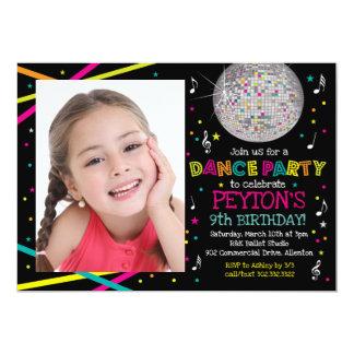 Neon Glow Dance Party - Photo Invitation