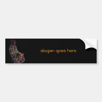 Neon Glow Dhol Drummer bumper sticker