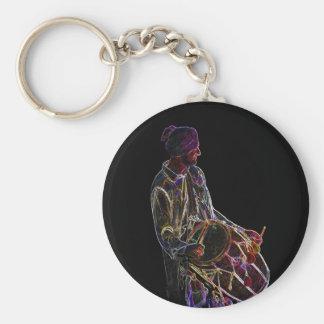 Neon Glow Dhol Drummer keychain
